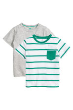 Lot de 2 T-shirts - Gris chiné - ENFANT | H&M CH 2