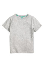 Lot de 2 T-shirts - Gris chiné - ENFANT | H&M CH 3