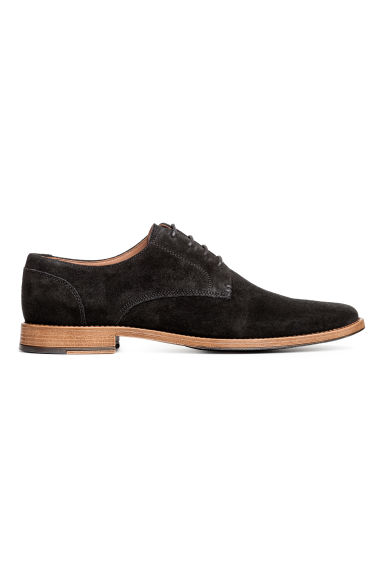 Suede Derby shoes - Black -  | H&M