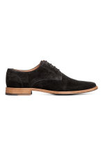 Suede Derby Shoes - Black - Men | H&M CA 1