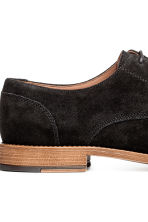 Suede Derby shoes - Black - Men | H&M 4