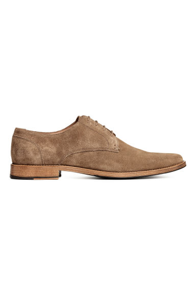 Suede Derby shoes - Dark beige - Men | H&M 1