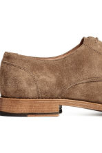 Suede Derby shoes - Dark beige - Men | H&M 4