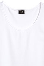 Pima cotton vest top - White - Men | H&M CN 3