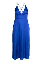 H&M+ Long satin dress - Cornflower blue - Ladies | H&M 2