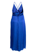 H&M+ Long satin dress - Cornflower blue - Ladies | H&M 3