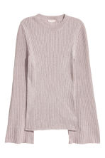 Trumpet-sleeved jumper - Light pink/Glittery - Ladies | H&M 2