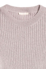 Trumpet-sleeved jumper - Light pink/Glittery - Ladies | H&M 3
