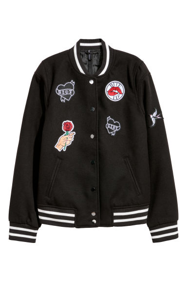Baseball jacket - Black - Ladies | H&M IE 1