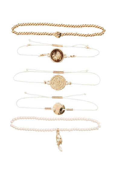 5-pack bracelets - Gold/White - Ladies | H&M 1