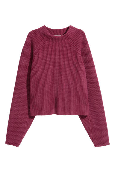 Knitted wool jumper - Red - Ladies | H&M CN 1