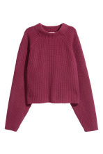 Knitted wool jumper - Red - Ladies | H&M CN 2