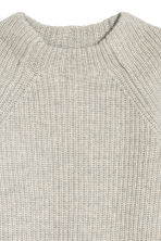 Knitted wool jumper - Light grey marl - Ladies | H&M CN 3