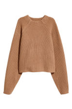 Knitted wool jumper - Camel - Ladies | H&M 2