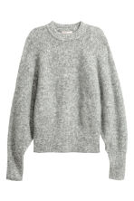 Mohair-blend Sweater - Gray melange - Ladies | H&M CA 2