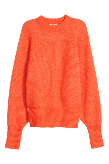 Mohair-blend jumper - Orange - Ladies | H&M