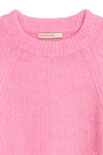 Mohair-blend jumper - Pink - Ladies | H&M CN 3