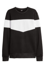 Block-patterned top - Black/White - Men | H&M CA 2