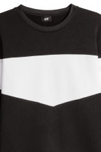 Block-patterned top - Black/White - Men | H&M 3