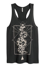 Long printed vest top - Black/Snake - Ladies | H&M CN 1
