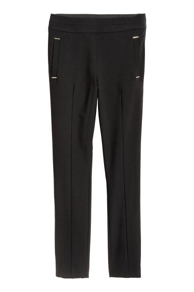 Pull-on trousers - Black - Ladies | H&M IE