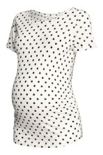 MAMA 平紋上衣 - White/Spotted - Ladies | H&M 2