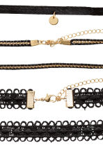 3-pack chokers - Black/Gold - Ladies | H&M 2