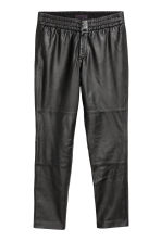 Leather trousers - Black - Men | H&M CN 2