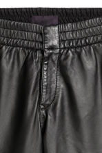 Leather trousers - Black - Men | H&M CN 4