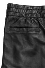 Leather trousers - Black - Men | H&M CN 3