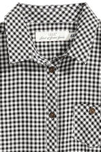 襯衫式洋裝 - Black/White checked -  | H&M 3