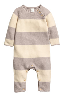 Knitted romper suit