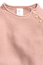 Knitted romper suit - Powder pink -  | H&M 2