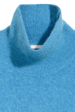 Mohair-blend polo-neck jumper - Blue - Ladies | H&M CN 3