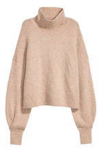 Pullover collo alto in mohair - Beige chiaro - DONNA | H&M IT 2