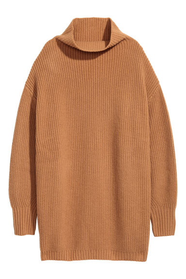Cashmere-blend jumper - Camel - Ladies | H&M CN