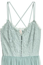 Lace dress with a mesh skirt - Dusky green - Ladies | H&M 3