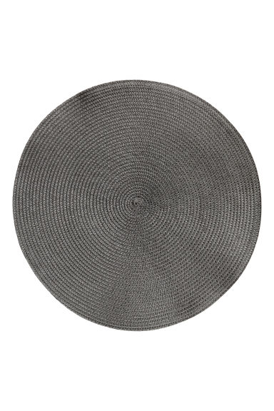 2-pack straw table mats - Anthracite grey - Home All | H&M CN 1