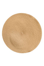 2-pack straw table mats - Camel -  | H&M CN 1