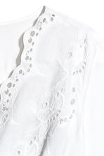 H&M+ V-neck blouse - White - Ladies | H&M 3