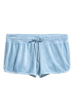 H&M+ Velour shorts - Light blue - Ladies | H&M 2