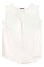 H&M+ V-neck blouse - White - Ladies | H&M 2