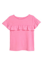 Frilled-trimmed top - Pink - Kids | H&M 2