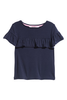 Frilled-trimmed top