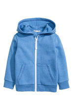 Hooded jacket - Blue marl -  | H&M CN 2