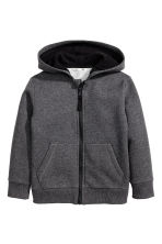 Hooded jacket - Dark grey marl - Kids | H&M CA 2