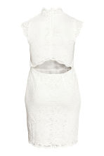H&M+ Knee-length lace dress - White - Ladies | H&M 2