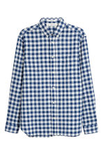 Overhemd - Regular fit - Donkerblauw/wit geruit - HEREN | H&M NL 2
