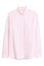 Linen-blend shirt Regular fit - Light pink - Men | H&M 2