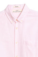 Linen-blend shirt Regular fit - Light pink - Men | H&M 3